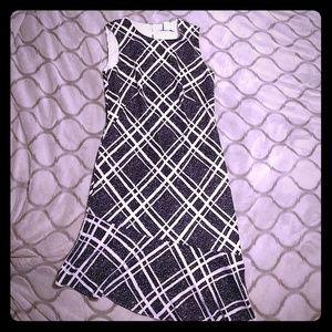 White house black market dress with asymmetric hem